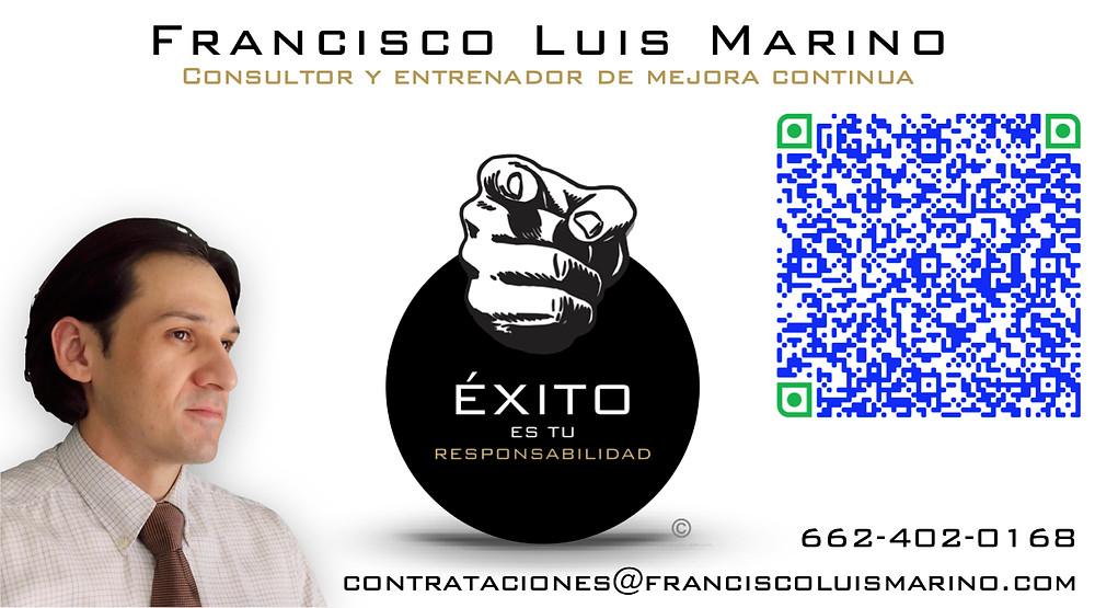 Coach Luis Marino tarjeta de presentación