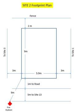 Site 2 Footprint Plan