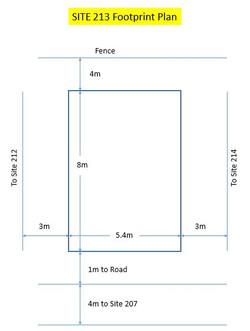 Site 213 - Footprint Plan