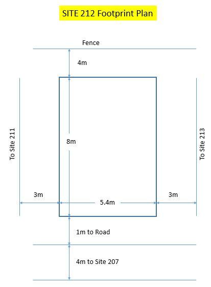 Site 212 - Footprint Plan