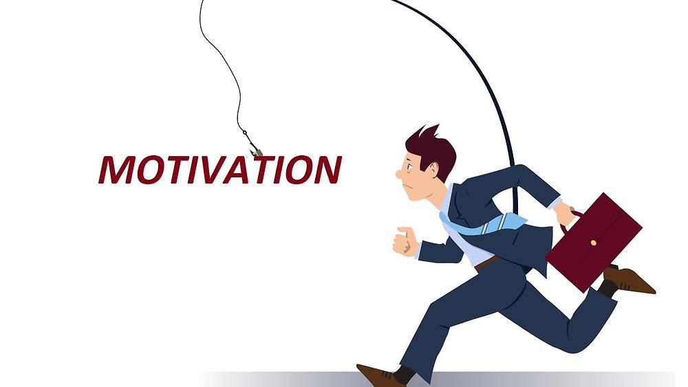 business man seeking motivation