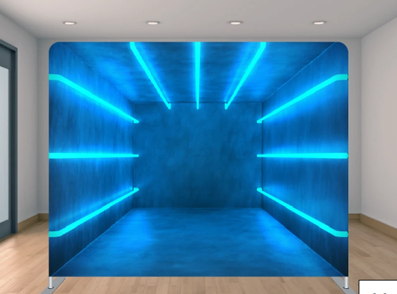 Blue Lights 3-D