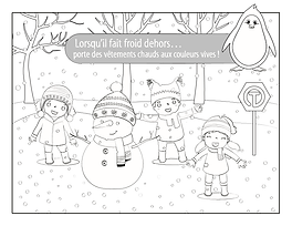 Wear Warm Clothes - Coloring Page - Fren