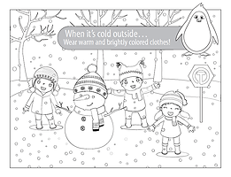 Wear Warm Clothes - Coloring Page - Engl
