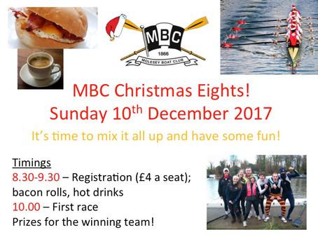 Christmas Eights - Sunday 10th December