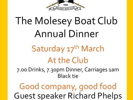 Annual Dinner - Saturday 17th March
