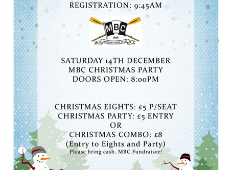 Christmas Eights Has Been Cancelled Due To Worsening River Conditions But The Party Is Still On!!!