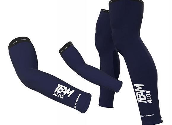 TEAMALLOUT LEG & ARM WARMER BUNDLE NAVY