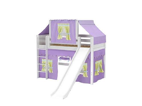 (中) 直梯、滑梯高架全套配件床組 (含帳棚及床下遮簾)