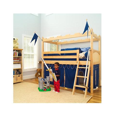 (低) 扶梯、滑梯高架全套城堡床組 (含城堡及床下遮簾)