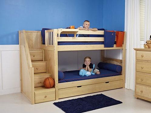 (低) 箱梯雙層床組(不含床下櫃)