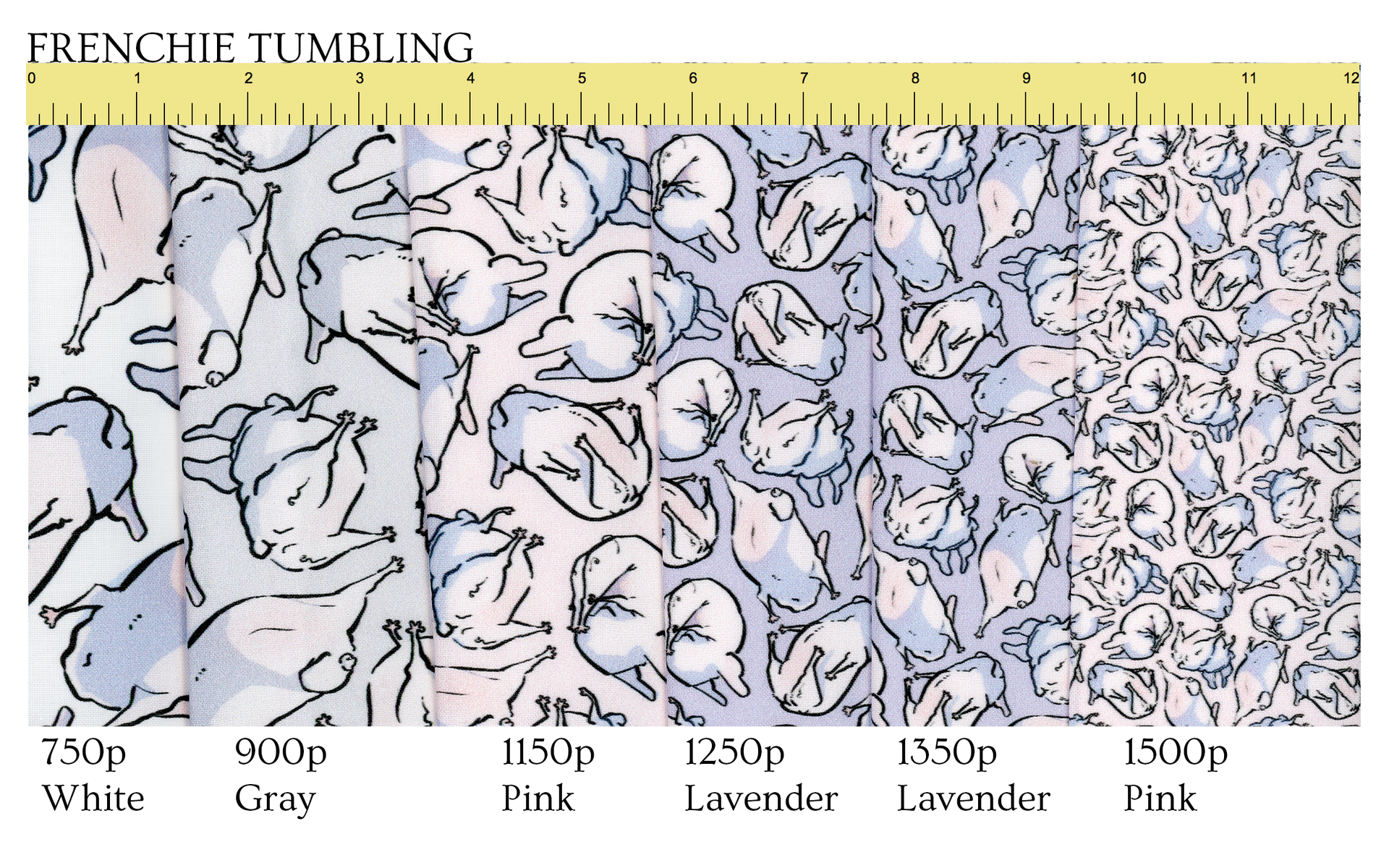 Follow this link to get Frenchie Tumbling patterns on Spoonflower!