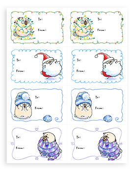 Holiday Gift Tags 2018 fawn page thumbna
