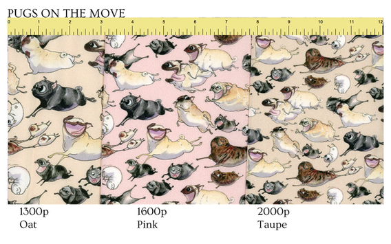 Follow this link to get Pugs on the Move patterns at Spoonflower!