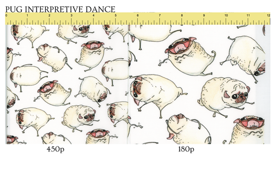 Follow this link to get Pug Interpretive Dance patterns on Spoonflower!
