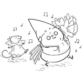 Gnome Pug: Daffodils