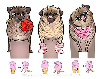 Valentine Standups 2019 brindle page THU