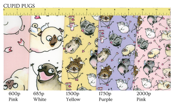 Follow this link to get Cupid Pugs patterns on Spoonflower!