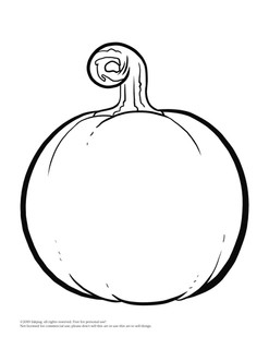 Pumpkin 4 outline