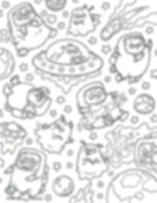 PUGS IN SPACE coloring page THUMBNAIL.pn