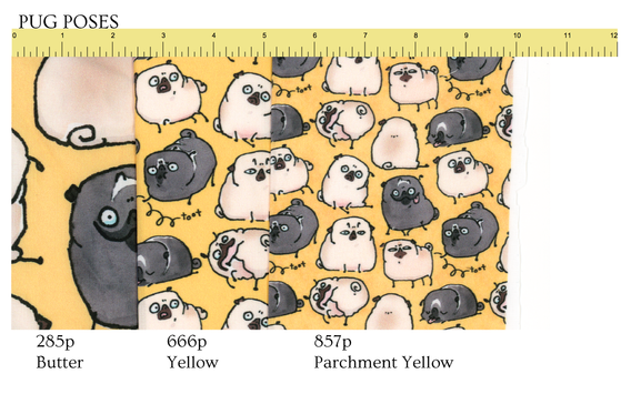 Follow this link to get Pug Poses patterns on Spoonflower!