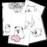 Printable Pug Valentines