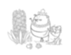 Gnome Pug Hyacinth coloring page thumbna