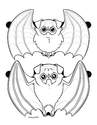 Batpug Garland Floppy Ears page 1 THUMBN