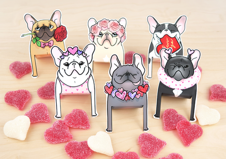 Printable Frenchie friends for your desk!