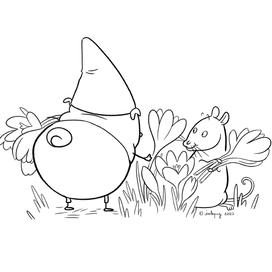 Gnome Pug: Crocus