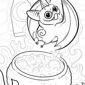 Batpugs: Cauldron Bubble