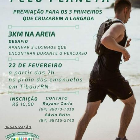 I Corrida pelo planeta desafia atletas por conscientização em Tibau