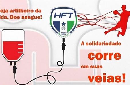Equipe de Handebol retoma campanha de doação de sangue