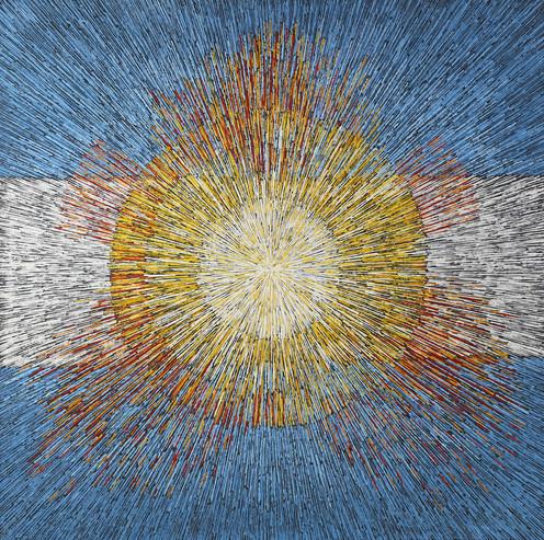 021 Bandera Argentina impregnada en sol