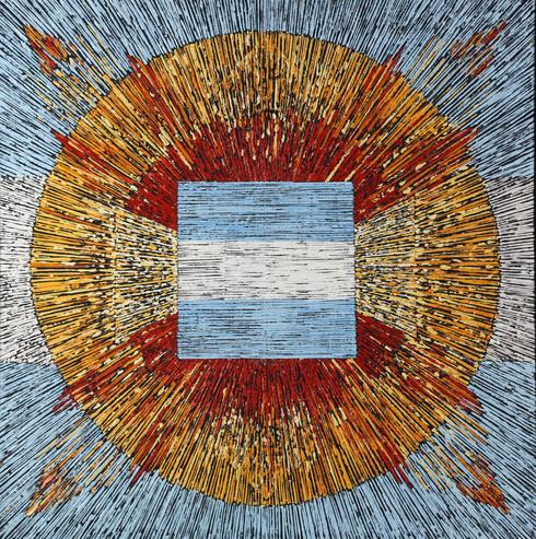 018 Bandera de Bandera Sol 100x100 2007.