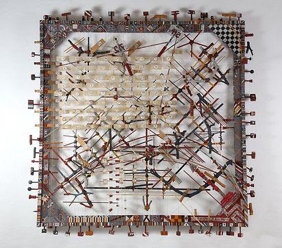 192 Geometrico cuadrado tecnica mixta 12