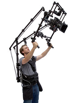 Camera Operator holding Cinema Devices AntiGravityCam