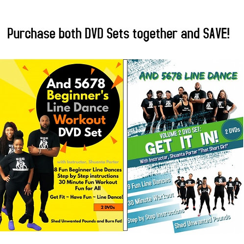 Purchase BOTH Beginner and Volume 2 DVD Line Dance Sets