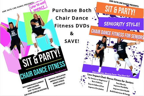 Purchase BOTH Chair Dance Fitness DVDs & SAVE!