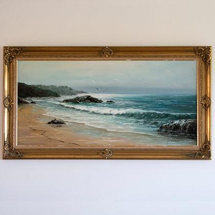 Vintage Large Seascape