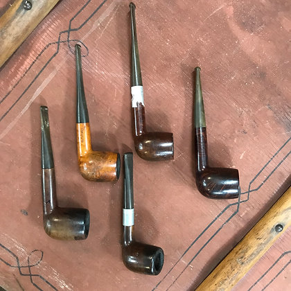Vintage Smoking Pipes Set