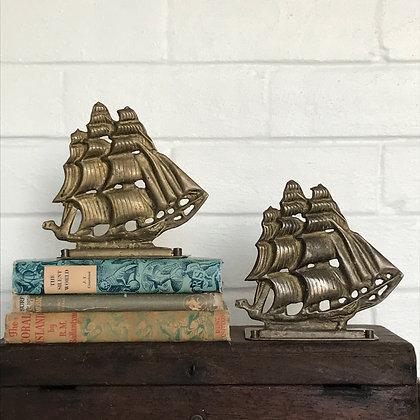 Brass Ship Bookend