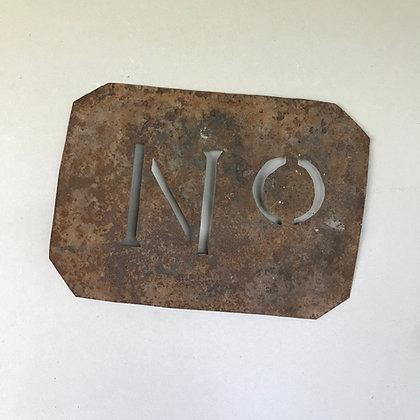 Vintage Number Stencil