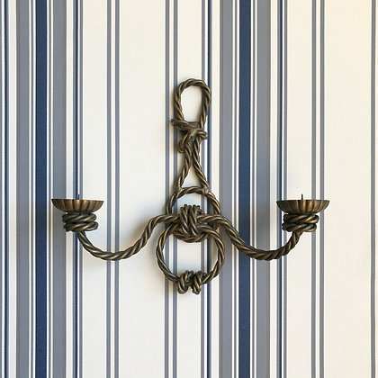 Vintage Nautical Brass Rope Sconce