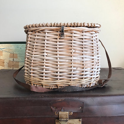Vintage Cane Fishing Creel