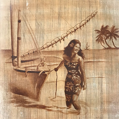 Original Artwork - Vintage Island Girl