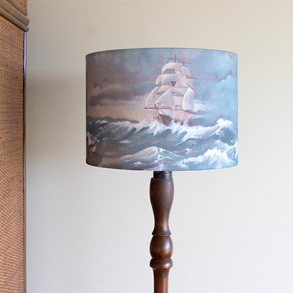 Clipper Ship Drum Lamp Shade