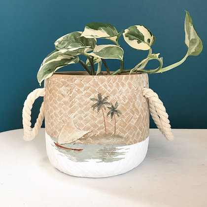 Handpainted Island Pot