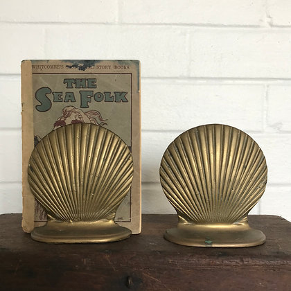 Brass Clam Shell Bookend