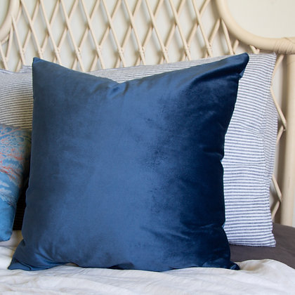 Velvet Blue Cushion